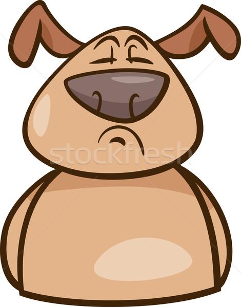 mood proud dog cartoon illustration Stock photo © izakowski