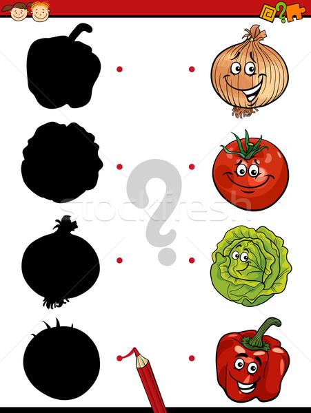Foto stock: Educação · sombras · jogo · desenho · animado · ilustração · sombra