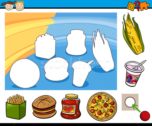 cartoon educational preschool task Stock photo © izakowski