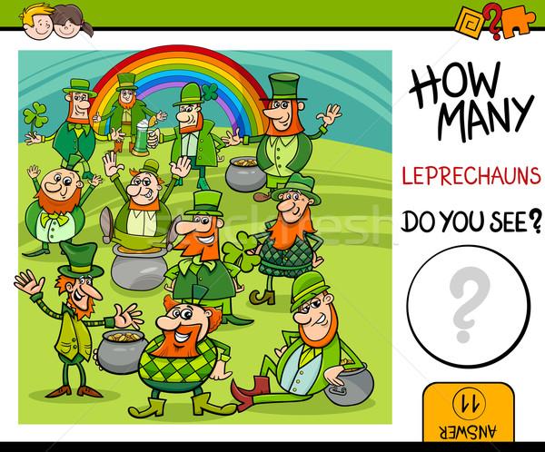 Tarefa desenho animado ilustração crianças Foto stock © izakowski