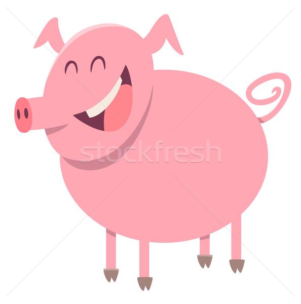pig farm animal character Stock photo © izakowski