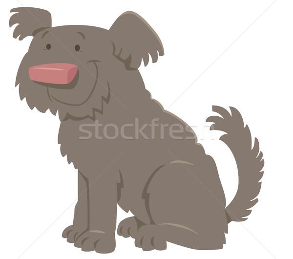 cute shaggy cartoon dog Stock photo © izakowski