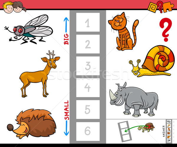 biggest animal educational game for children Stock photo © izakowski