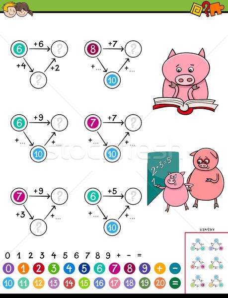 maths addition educational game for children Stock photo © izakowski