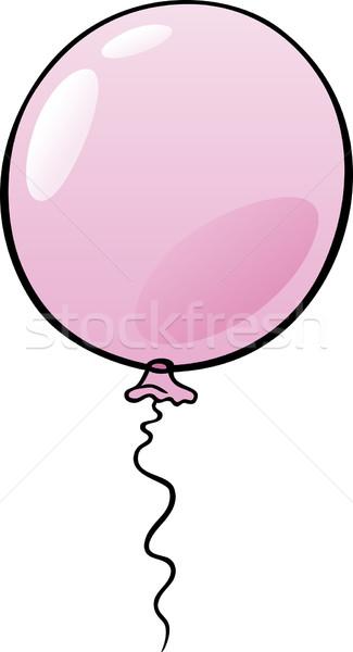 Ballon clipart cartoon illustration rose Photo stock © izakowski