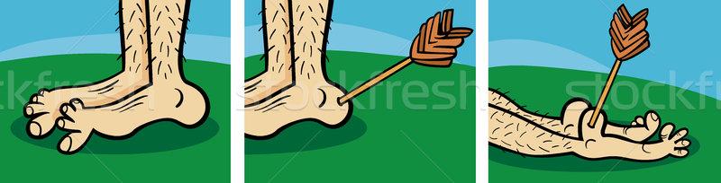 achilles heel cartoon illustration Stock photo © izakowski