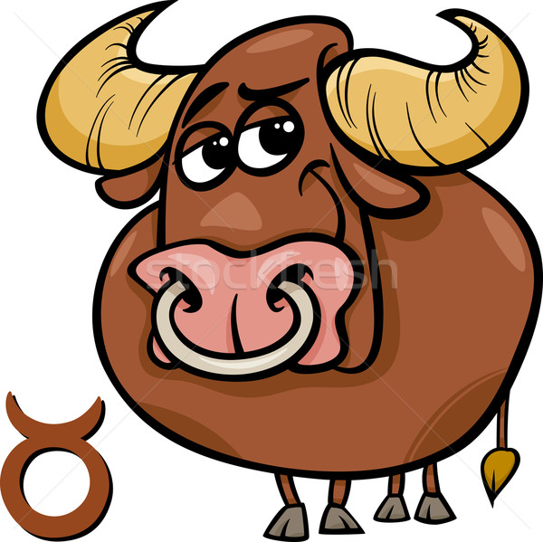 taurus or the bull zodiac sign Stock photo © izakowski