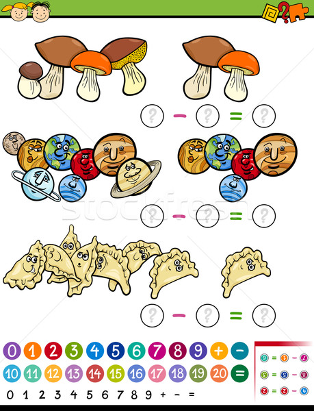 educational math game cartoon Stock photo © izakowski