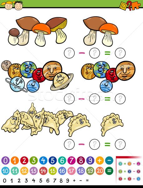Matematyki gry cartoon ilustracja matematyczny Zdjęcia stock © izakowski