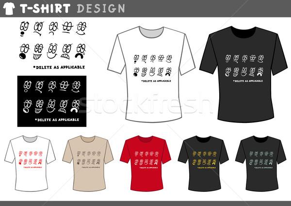t shirt design with emoticons Stock photo © izakowski