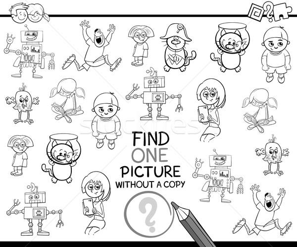 find single item coloring page Stock photo © izakowski