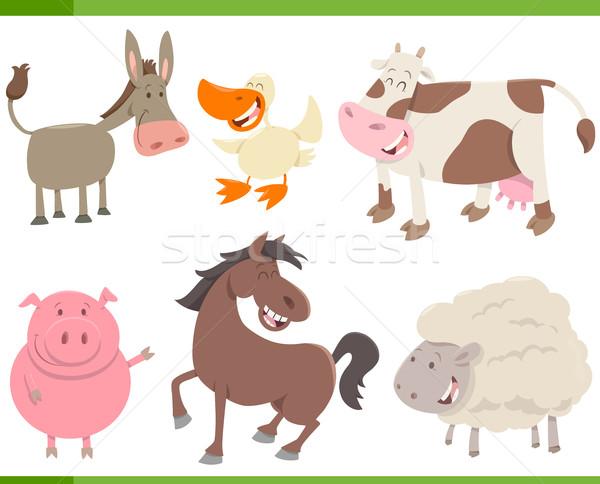 ストックフォト: 家畜 · コレクション · 漫画 · 実例 · かわいい · 家畜