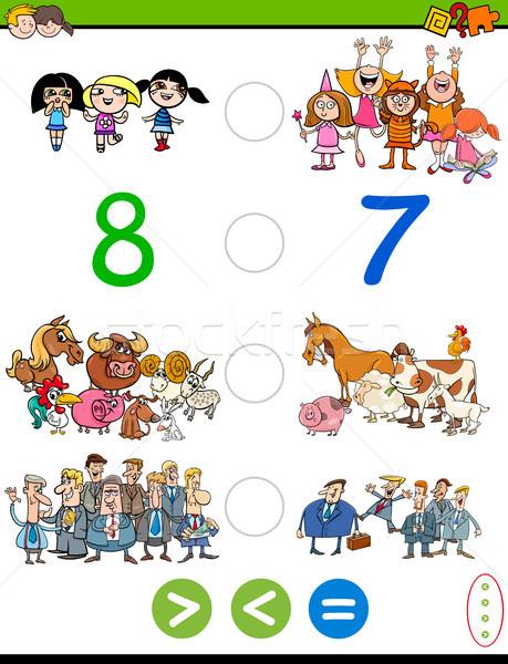 Cartoon moins égal jeu illustration Photo stock © izakowski