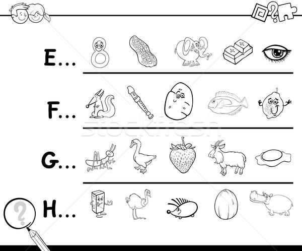 start letter of a word coloring page Stock photo © izakowski