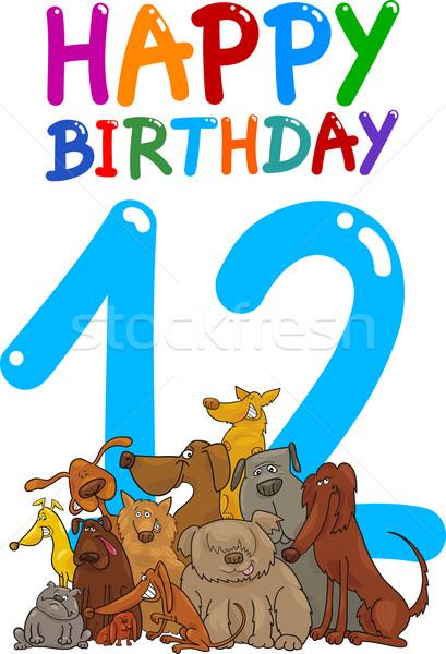 twelfth birthday anniversary design Stock photo © izakowski