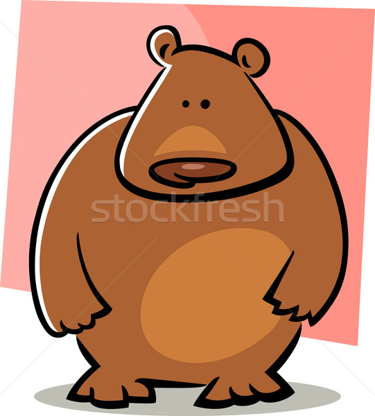 cartoon doodle of bear Stock photo © izakowski