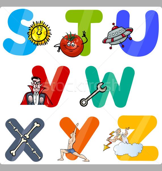 Education Cartoon Alphabet Letters for Kids Stock photo © izakowski
