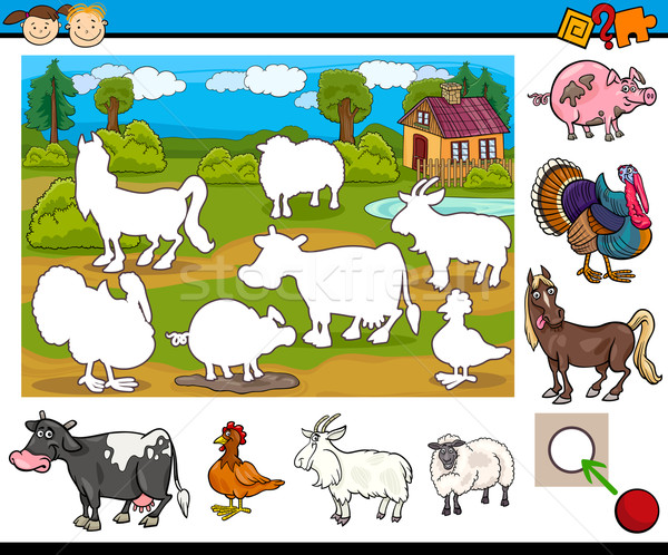 educational task for preschoolers Stock photo © izakowski