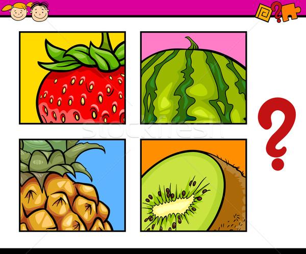 Puzzle przedszkolaki cartoon ilustracja edukacji Zdjęcia stock © izakowski