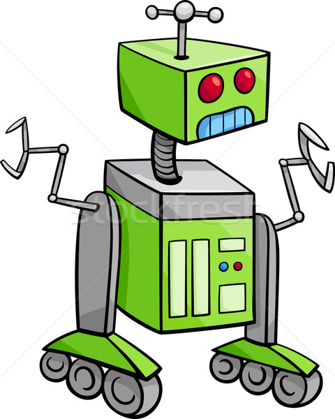 Robot personnage cartoon illustration science-fiction technologie Photo stock © izakowski