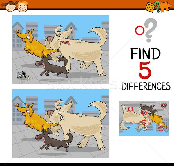 Diferenças jogo desenho animado ilustração Foto stock © izakowski