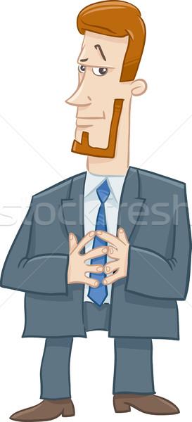 Jefe carácter Cartoon ilustración gerente negocios Foto stock © izakowski