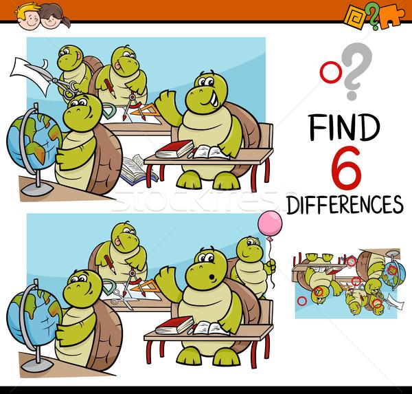 Farklılıklar görev çocuklar karikatür örnek Stok fotoğraf © izakowski