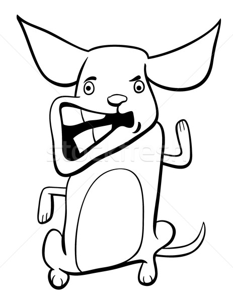 angry puppy coloring page Stock photo © izakowski