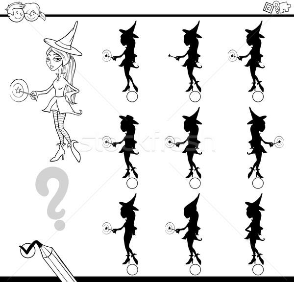 Ombra differenze attività bianco nero cartoon illustrazione Foto d'archivio © izakowski