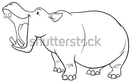 hippopotamus cartoon character Stock photo © izakowski