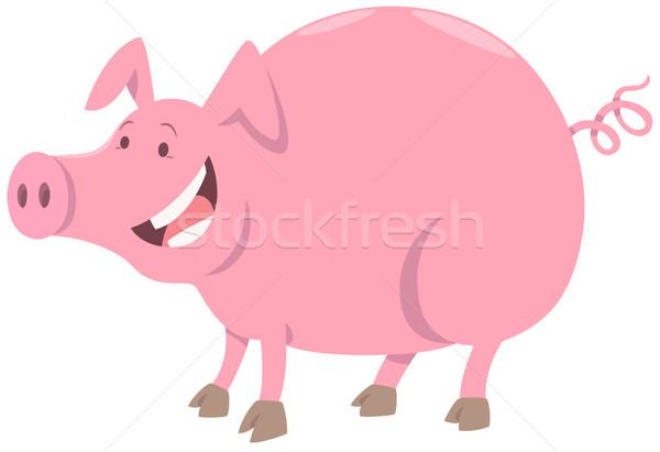 funny pig farm animal character Stock photo © izakowski