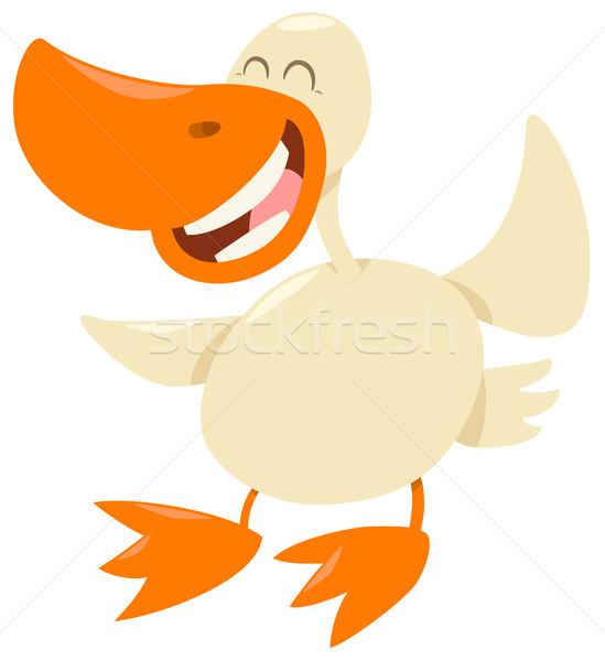 duck farm animal character Stock photo © izakowski