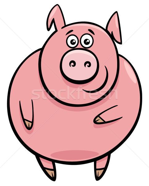 Bonitinho porco desenho animado ilustração engraçado Foto stock © izakowski