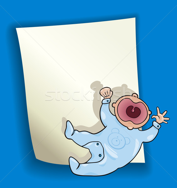 cartoon design with little baby Stock photo © izakowski
