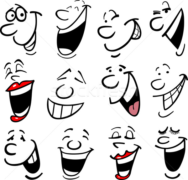 Cartoon emotions illustration Stock photo © izakowski