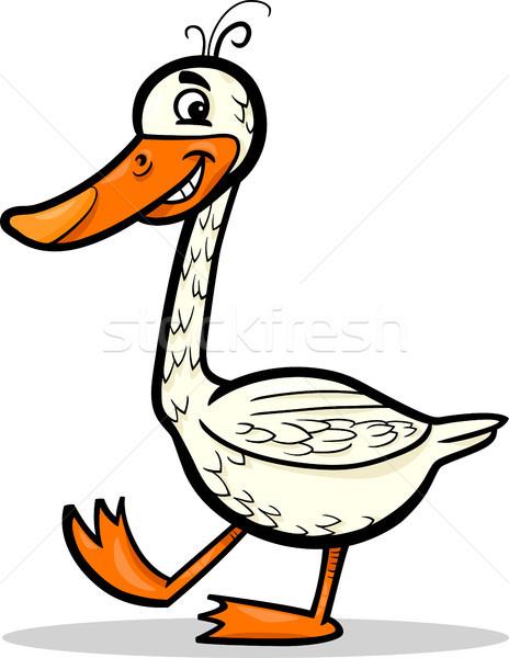 goose farm bird cartoon illustration Stock photo © izakowski