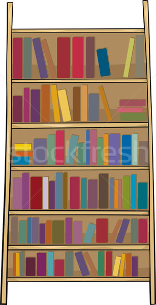book shelf clip art cartoon illustration Stock photo © izakowski