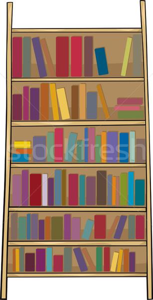 Boekenplank clip art cartoon illustratie boekenkast huis Stockfoto © izakowski