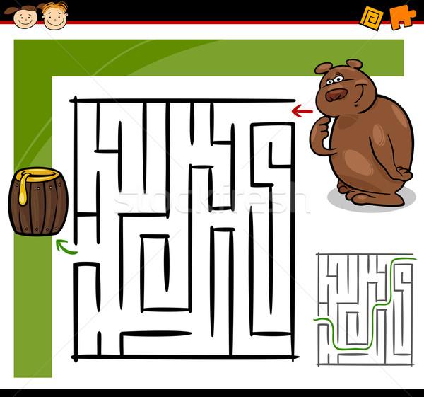 漫画 迷路 迷路 ゲーム 実例 教育 ストックフォト © izakowski