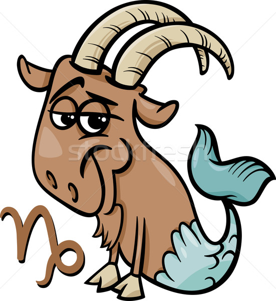 capricorn or the sea goat zodiac sign Stock photo © izakowski