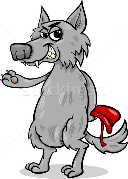 Tündérmese farkas rajz illusztráció rossz karakter Stock fotó © izakowski