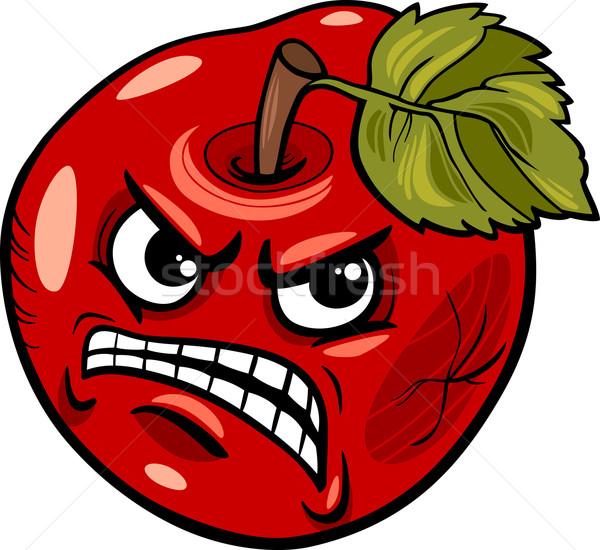 Slechte appel gezegde cartoon illustratie humor Stockfoto © izakowski