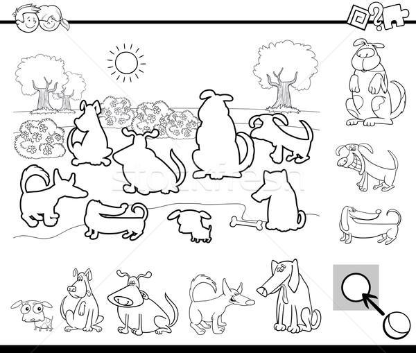 Educativo tarea blanco negro Cartoon ilustración actividad Foto stock © izakowski