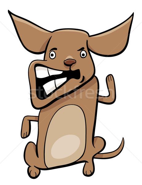 angry puppy cartoon character Stock photo © izakowski
