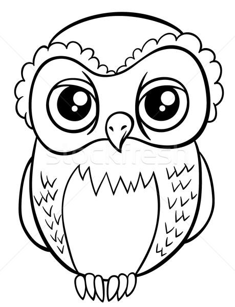owl character coloring page Stock photo © izakowski