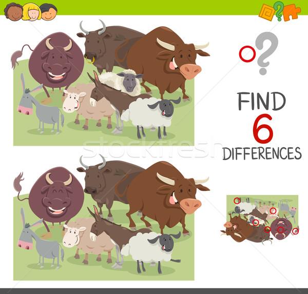 spot the differences worksheet Stock photo © izakowski