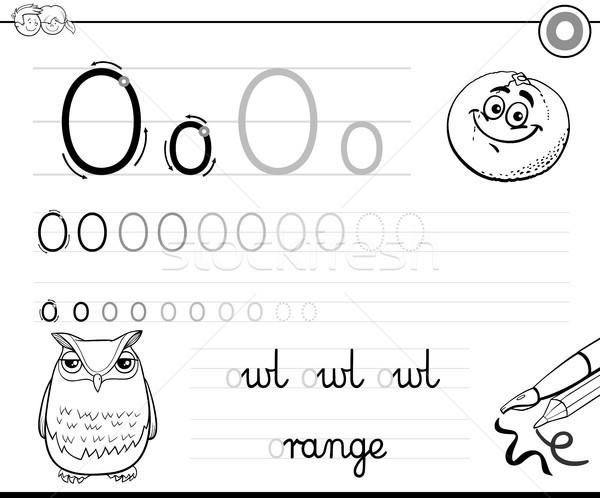 learn to write letter O workbook for kids Stock photo © izakowski