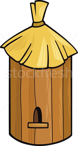 Arı kovan karikatür örnek çiftlik ev Stok fotoğraf © izakowski