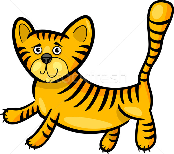 Stock foto: Karikatur · Illustration · wenig · Tiger · witzig · cute
