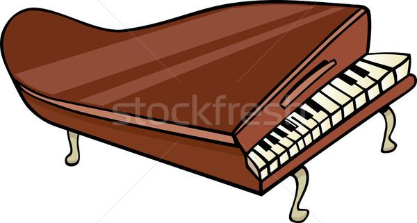 Zongora clip art rajz illusztráció hangversenyzongora terv Stock fotó © izakowski